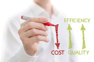 réduction des coûts, qualité, efficacité