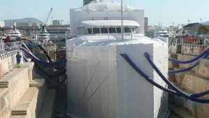 Confinement naval port sec travaux