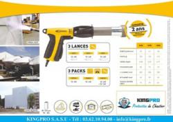 KINGPRO - Malette HORNET pistolet de rétractation - termobâchage - cloison souple - confinement