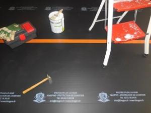 protection lino chantier