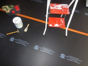 protection sol lamelle PVC chantier