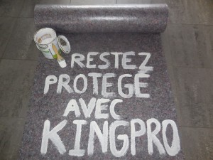Feutrine absorbante - protection de chantier KINGPRO