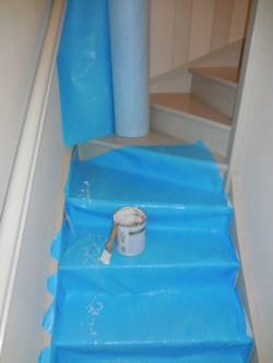 Protection escaliers bois - sol parquet carrelage