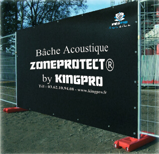 Bâche acoustique ZONEPROTECT - chantier travaux réduction bruit