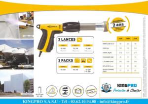 KINGPRO - Malette HORNET pistolet de rétractation 2