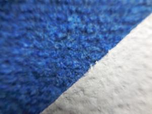 Moquette de protection chantier travaux - moquette aiguilletée - bleue envers mousse