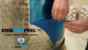 Vernis pelable de protection KINGPROPEEL HD - peinture de protection pelable surface lisse ou poreuse