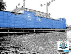 Bâche échafaudage armée transparente 200gm² - KINGPRO