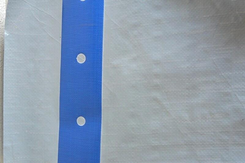 Bâche PE lourde 200gm² extra-longue 4m x 60m - grise - anti-UV - KINGPRO