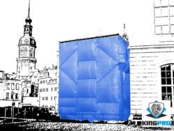 Bâches échafaudage blanche 150gm² - KINGPRO - protection d'échafaudages et façades