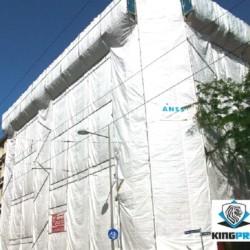 Bâche échafaudage blanche 150gm² ECO - KINGPRO - protection de façade économique