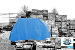 Bâche PVC ultra-lourde 570gm² - verte ou bleue - ultra-résistante - KINGPRO