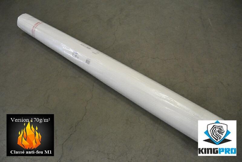 Bâche armée transparente 170gm² classée anti-feu M1 - ignifugée M1 - KINGPRO