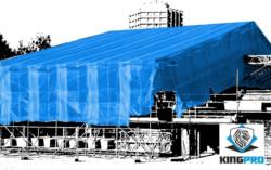 Bâche armée transparente 200gm² pour protection échafaudage - KINGPRO