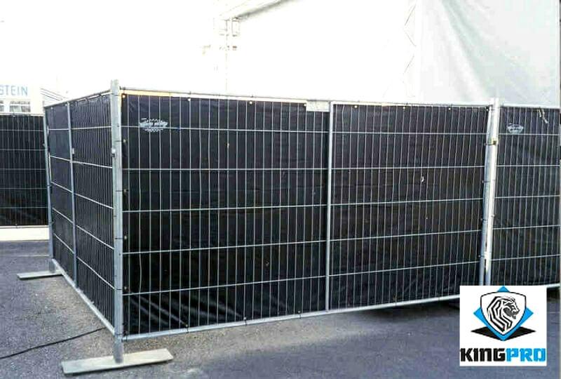 Bâche clôture mobile de chantier KINGPRO - bâche occultation pour clôture