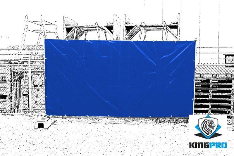 Bâche spéciale clôture mobile de chantier KINGPRO
