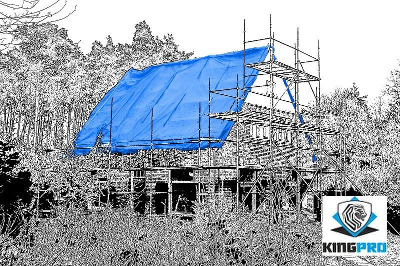Bâches PE ultra-lourdes 200gm² 240gm² pour protection de chantier et couverture de toitures - KINGPRO