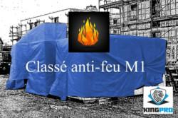 Bâches et filets classés anti-feu M1 KINGPRO