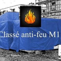 Bâches et Filets classés anti-feu M1