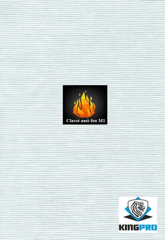 Filet de ravalement 125gm² blanc classé anti-feu M1 - KINGPRO 2.70m x 50m 3.20m x 50m
