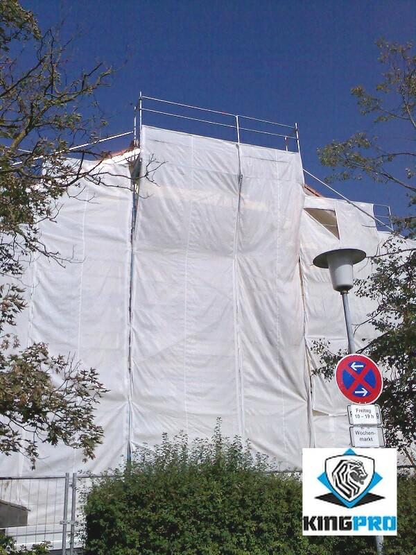 Filet de ravalement 125gm² blanc - filet échafaudage façade - KINGPRO 2.70m x 50m 3.20m x 50m
