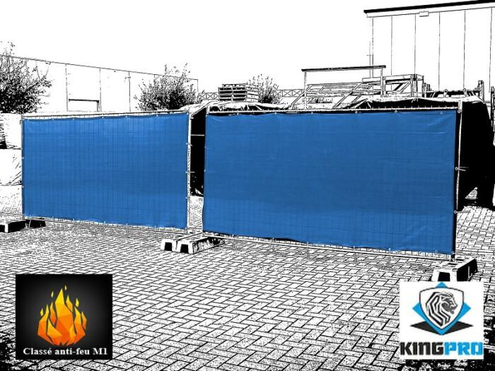 Filet spécial clôture classé anti-feu M1 - KINGPRO - ignifugé M1