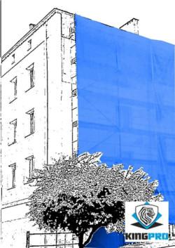 Filets échafaudage 50gm² - KINGPRO - protection de façade - anti-chute