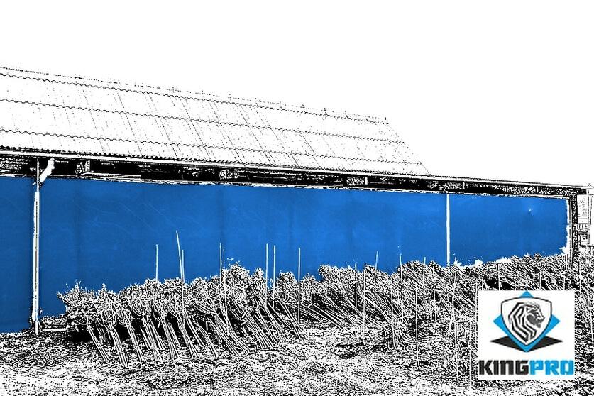 Filets brise-vue - filets d'occultation d'ombrage pour clôture de chantier - KINGPRO