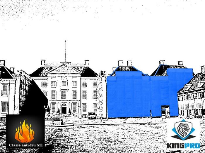 Filets de ravalement 125gm² Premium classé anti-feu M1 - filet ravalement de façade M1 - KINGPRO