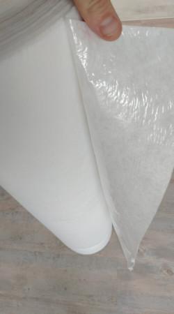 Fibre étanche de protection KINGPRO - côté fibre - côté film pe - protection de sol chantier