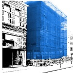 Filet échafaudage - protection façade - protection vitrage menuiserie