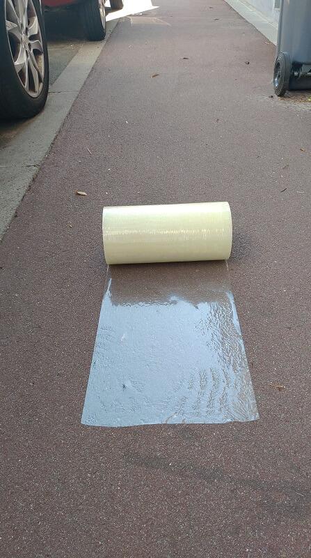 Film adhésifs KINGPRO VHT 300mm x 100m pour bitume enrobé - film adhésif pour bitume enrobé 5