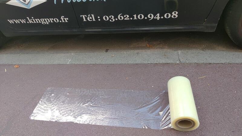 Film adhésifs KINGPRO VHT 300mm x 100m pour bitume enrobé - film adhésif pour bitume enrobé KINGPRO