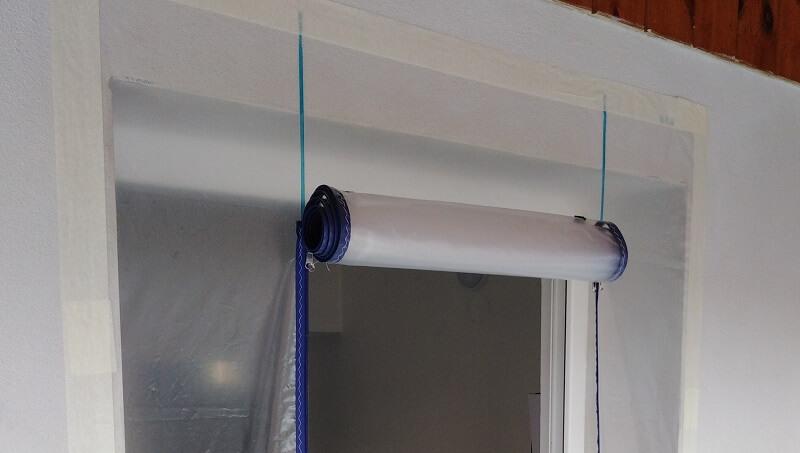 Porte Zip en II 93cm de large avec Film PE 1.50m x 2.50m ZONPROTECT