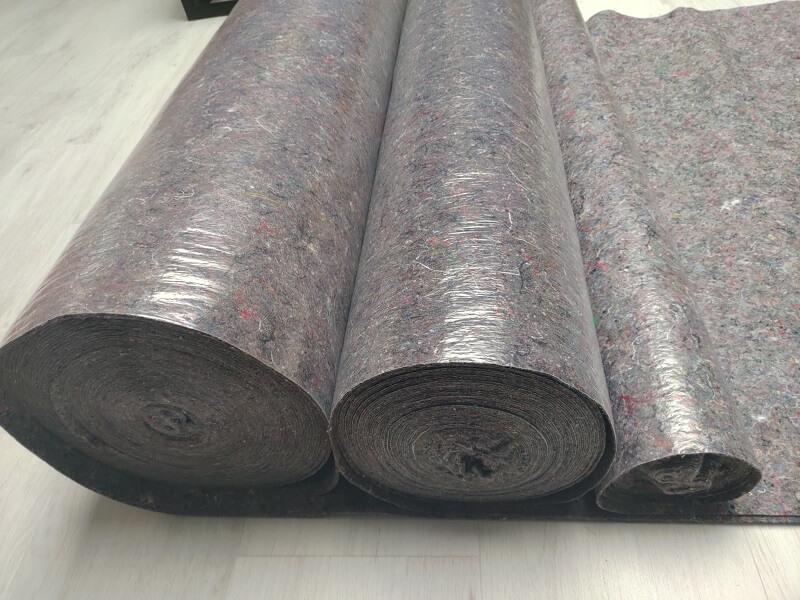 Feutrine étanche KINGPRO 180 300 et 500gm² KINGPRO - rouleau de feutre absorbant étanche pour protection de sol