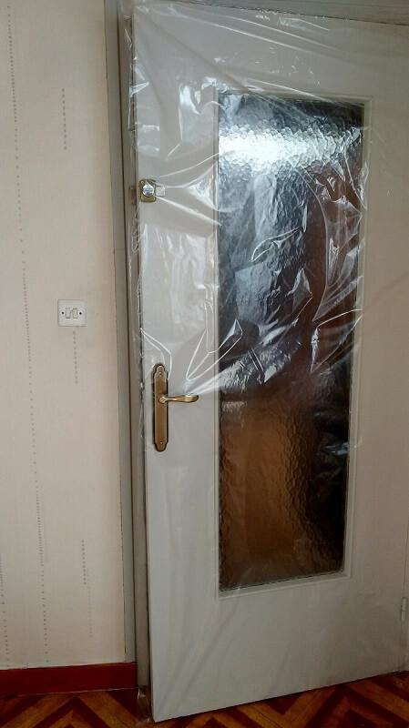 Protection de porte - Housses de protection pour porte sur chantier - travaux