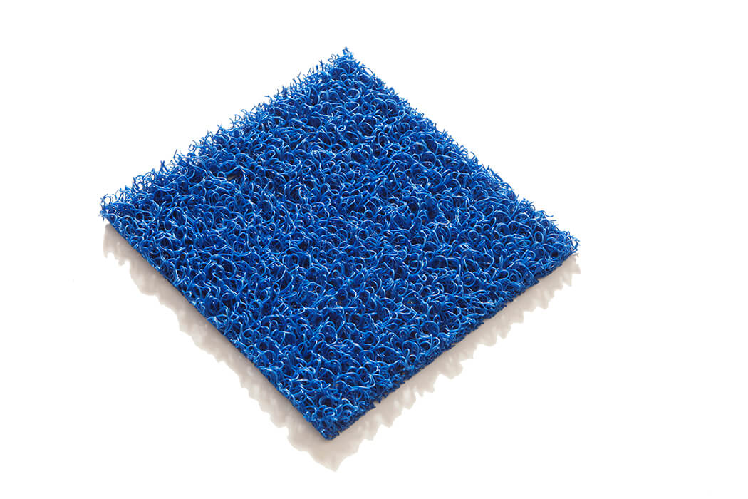 Tapis PVC spaghetti KINGPRO couleur bleu