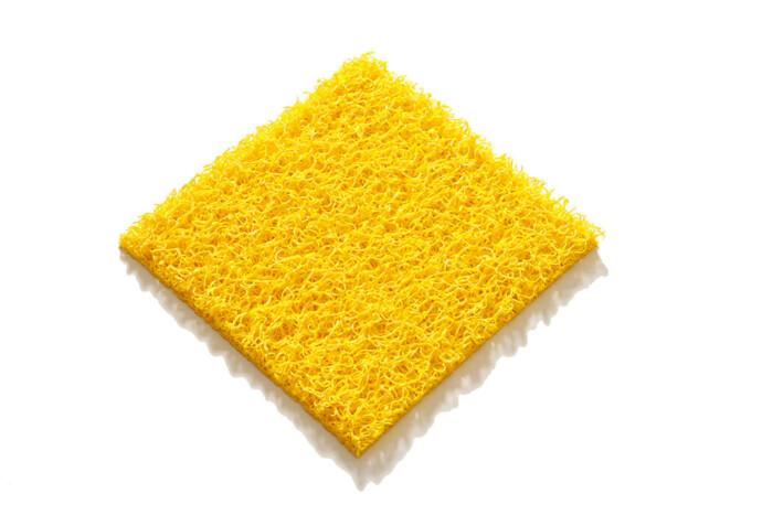 Tapis PVC spaghetti KINGPRO couleur jaune