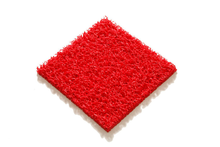 Tapis PVC spaghetti KINGPRO - couleur rouge 1m x 10m