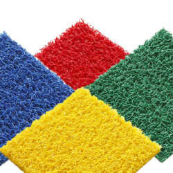 Tapis PVC spaghetti KINGPRO divers coloris rouge bleu jaune orange vert cheminement de chantier