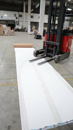 Carton plastifié de protection TETRA - chariot élévateur - travaux chantier