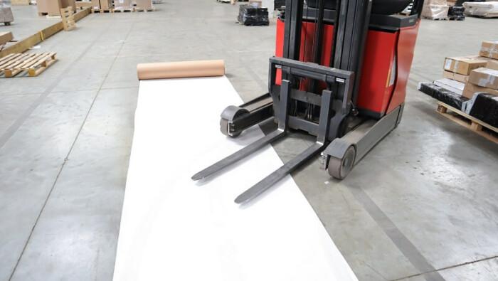 Carton plastifié de protection TETRA - passage chariot engin manutention protection sol