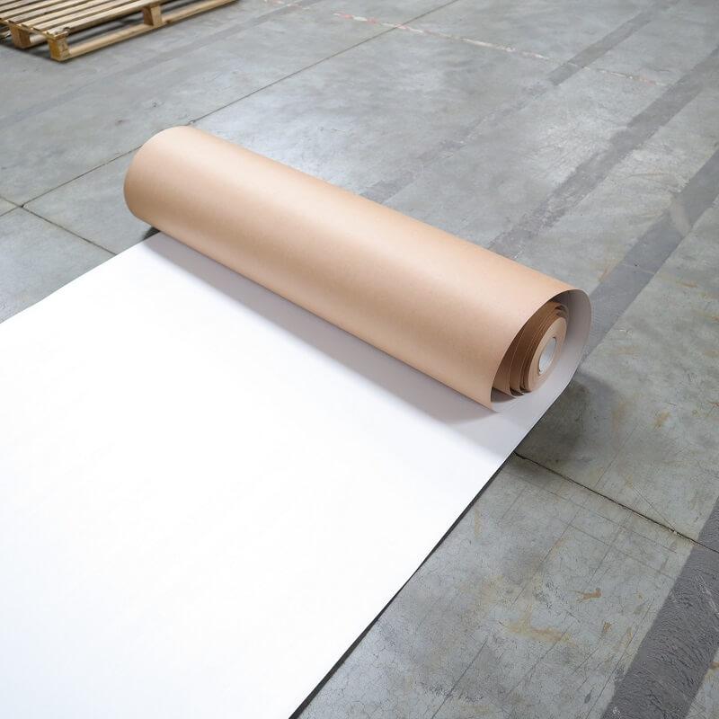 Carton plastifié de protection TETRA - protection BTP carton plastifié 1 côté TETRA blanc