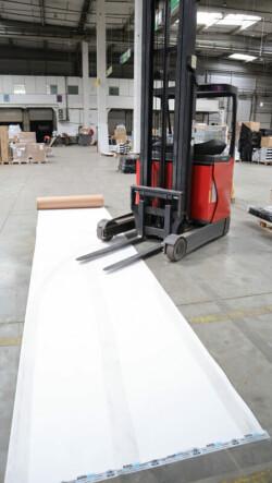 Carton plastifié de protection TETRA - protection sol chantier KINGPRO