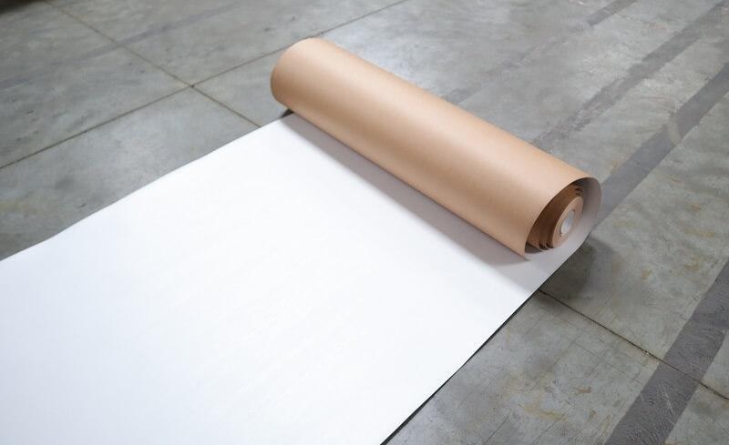 Carton plastifié de protection TETRA - rouleau de protection en carton plastifié TETRA 1 côté blanc 75m²