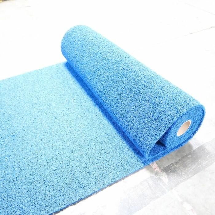 Tapis PVC antidérapant KINGPRO 1m x 10m couleur bleu - circulation chantier