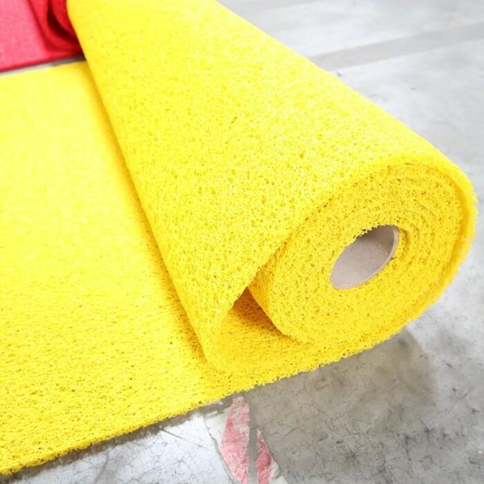 Tapis PVC antidérapant KINGPRO 1m x 10m - couleur jaune - circulation piétonne sécurisée