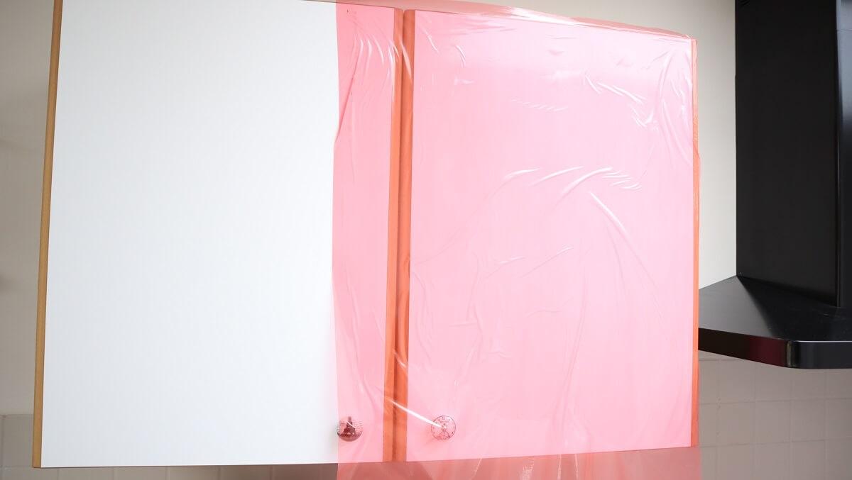 Film adhésif multi-usage rouge KINGPRO MTU - protection de chantier - meubles cuisine