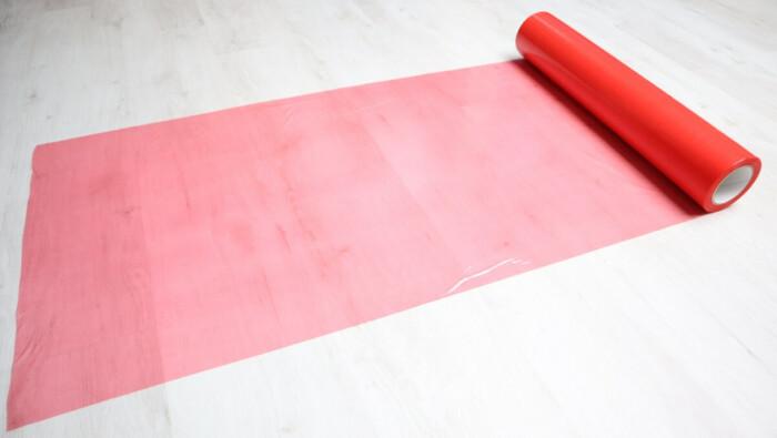 Film multi-usage rouge KINGPRO MTU - protection adhésive de surfaces multiusage sols durs